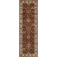 "Momeni Zarin Collection Floor Runner - 2'6""x8', Hand-Tufted Wool in Spice - Closeouts"