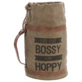 Mona B Bossy Up-Cycled Canvas Growler Bag (For Women)