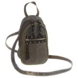 Mona B Forever Young Upcycled Canvas Mini Crossbody Bag (For Women)