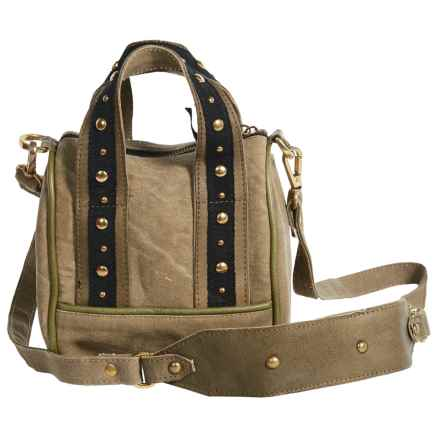 Mona B Lucca Upcycled Canvas Mini Crossbody Bag (For Women) in Tan - Closeouts