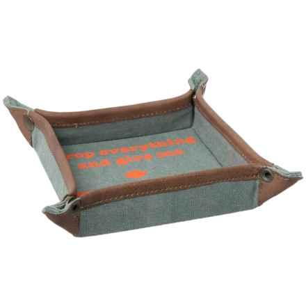"""Mona B Zen Catch Tray - 6x6"""" in Grey/Orange - Closeouts"""