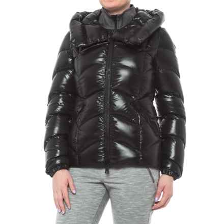 Moncler Akebia Quilted Down Coat (For Women) in Black - Closeouts