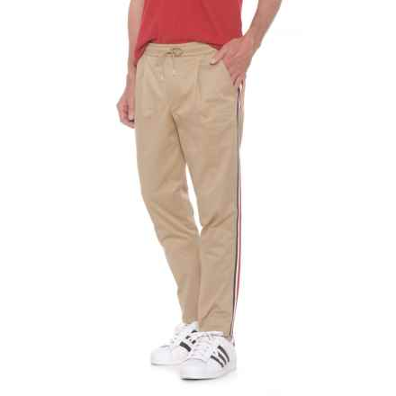 Moncler Drawstring Elastic Waistband Pants (For Men) in Khaki - Closeouts