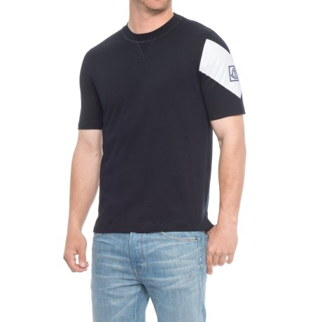 Moncler Gamme Bleu Chevron T-Shirt -Short Sleeve (For Men) in Black