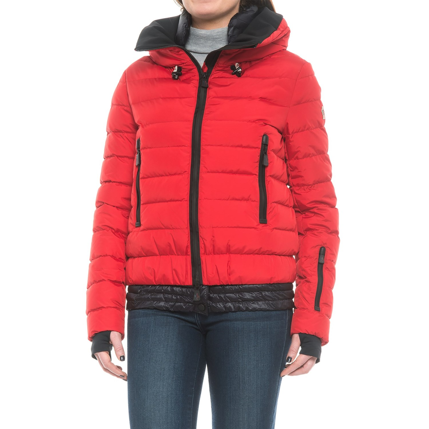 moncler red puffer jacket women's