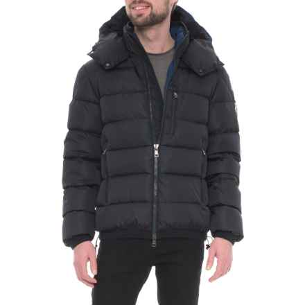 Moncler Gres Hooded Down Jacket (For Men) in Dark Blue - Closeouts