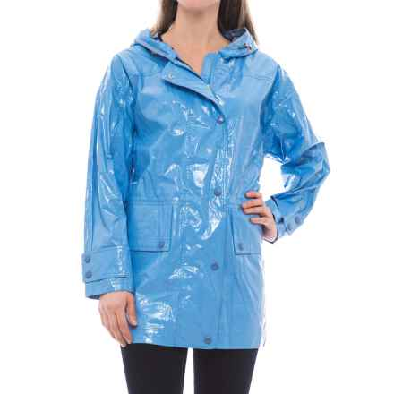 Moncler Navet Hooded Rain Coat (For Women) in Blue - Closeouts