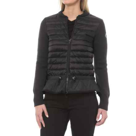 Moncler Padded Down Cinch Waist Jacket (For Women) in Black - Closeouts