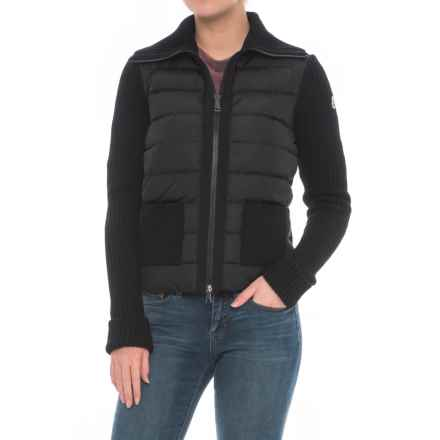 Moncler Padded Panel Down Jacket (For Women) in Black - Closeouts