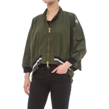 Moncler Reblochon Poncho Jacket (For Women) in Olive