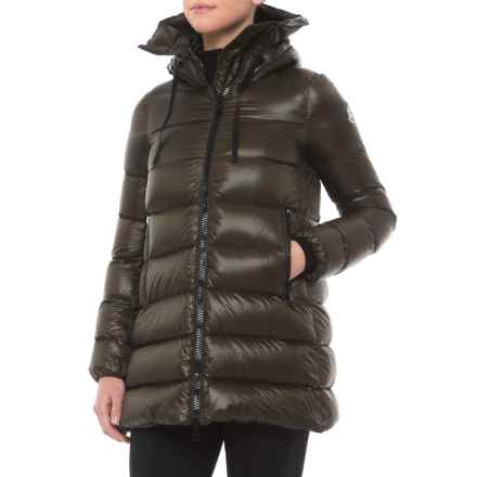 Moncler Suyen Down Parka - Hooded (For Women) in Olive - Closeouts