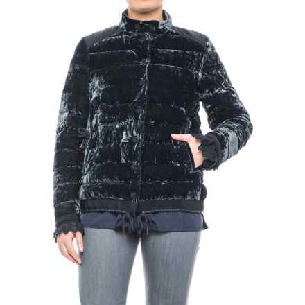 Moncler Twist Beatrice Down Jacket (For Women) in Blue - Closeouts