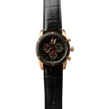 Mondaine Sport II Chrono Watch in Black/Black - Closeouts