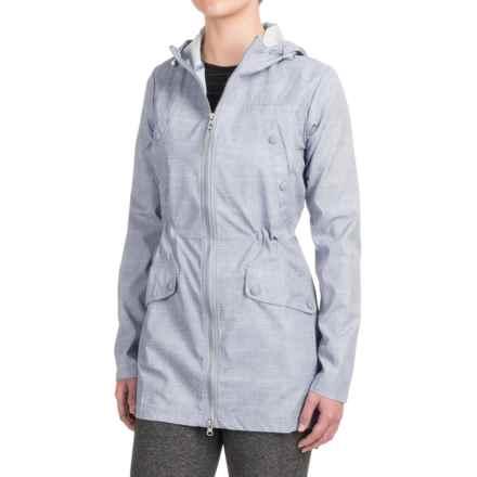 Mondetta Amsterdam Long Jacket (For Women) in Burlap Print Cloud - Closeouts