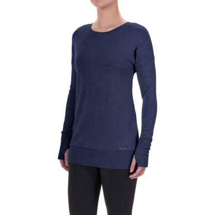 Mondetta Back Zip Sweatshirt (For Women) in Navy - Closeouts