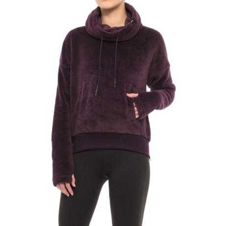 Mondetta Backcountry Fleece Sweater - Cowl Neck (For Women) in Raisin