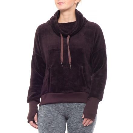 ee3ec87e7294f Mondetta Backcountry Fleece Sweater - Cowl Neck (For Women) in Raisin -  Closeouts