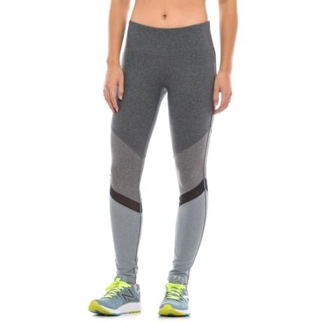 Mondetta Chevron High-Performance Pants (For Women) in Granite Melange Combo