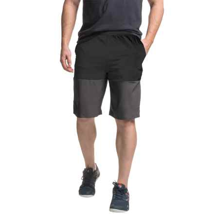 "Mondetta Color-Blocked Shorts- 10"" (For Men) in Black/Charcoal - Closeouts"