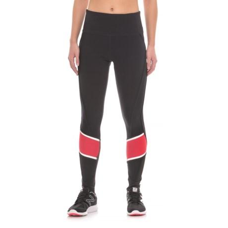 Mondetta Dash Rubber Stripe Leggings (For Women) in Black