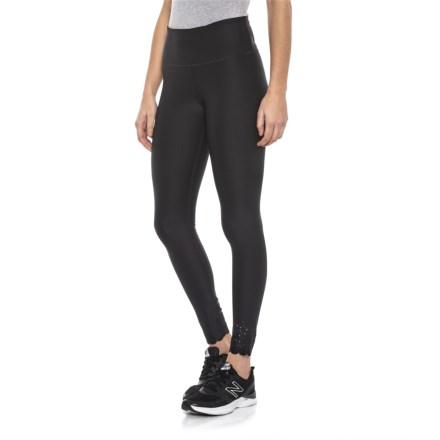 d7e0fdfd05a59c Mondetta Dot and Scallop Perforated Leggings (For Women) in Black -  Closeouts