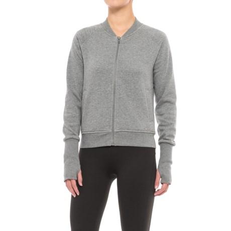 Mondetta Elite Jacket (For Women) in Ash Melange/White Pile