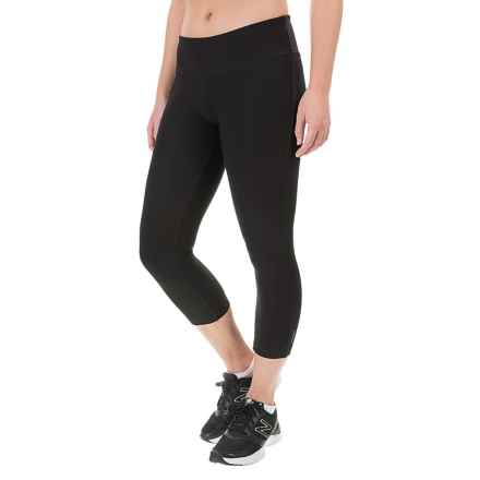 Mondetta Knit Core Capris (For Women) in Black - Closeouts