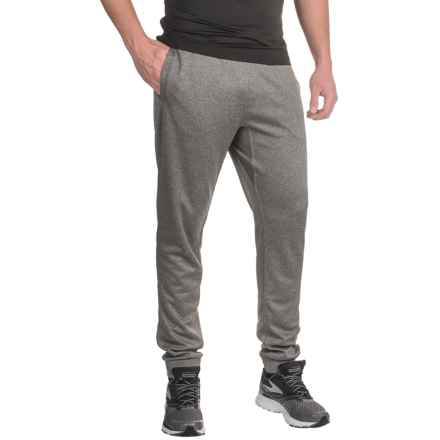 Mondetta Knit Joggers - Fake Fly (For Men) in Heather Charcoal - Closeouts