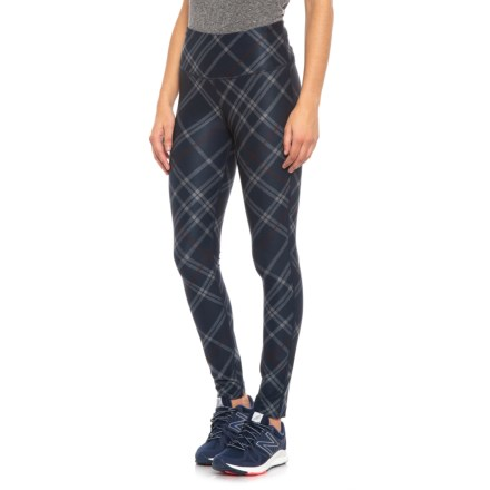 16fd4832c3de0f Mondetta London 1 Plaid Print Leggings (For Women) in Traditional  Plaid/Navy -