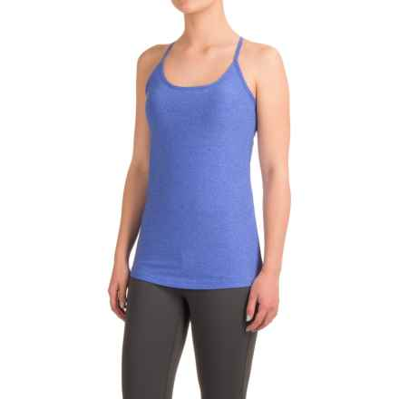 Mondetta Melange Jersey Tank Top - Built-In Shelf Bra (For Women) in Denim Melange - Closeouts