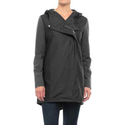 Mondetta Mixed Media Anorak Jacket (For Women) in Black - Closeouts