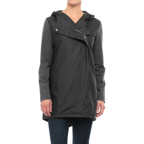 Mondetta Mixed Media Anorak Jacket (For Women) in Black