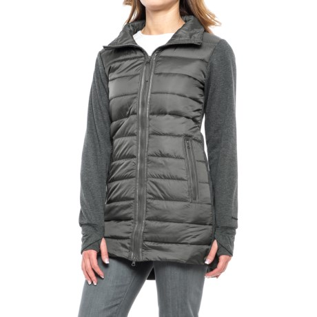 Mondetta Mixed Media Jacket - Insulated (For Women) in Charcoal/Charcoal Heather