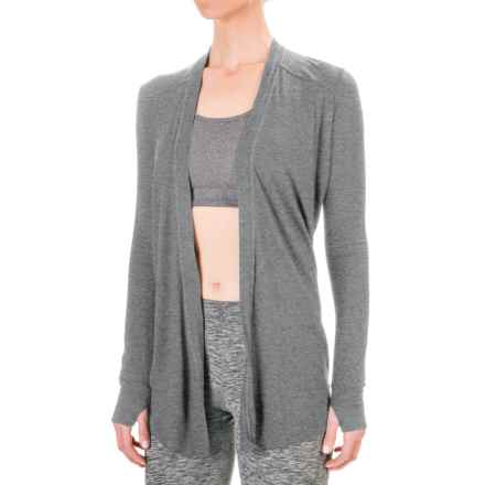 Mondetta Open-Back Cardigan Jacket (For Women) in Dark Heather Grey - Closeouts