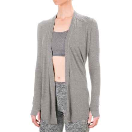 Mondetta Open-Back Cardigan Jacket (For Women) in Silver Melange - Closeouts
