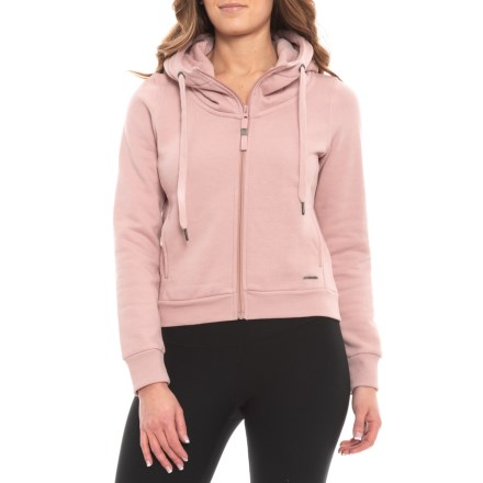 0cc20a1575d8 Mondetta Oversized Crop Hoodie - Full Zip (For Women) in Ballet Pink -  Closeouts
