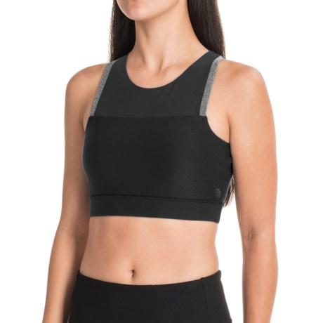 Mondetta Plush High-Performance Sports Bra - Medium Impact, (For Women) in 1401 Black