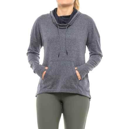 Mondetta Posit Shirt - Cowl Neck, Long Sleeve (For Women) in Navy Melange - Closeouts