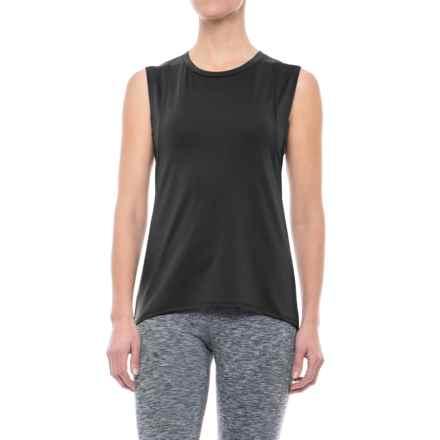 Mondetta Primo Stretch Pique Tank Top (For Women) in Black - Closeouts