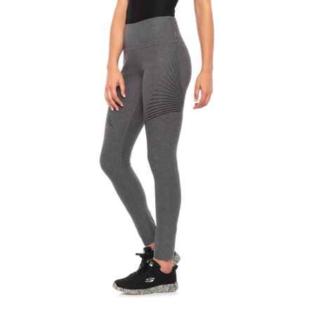 Mondetta Racetime 1 Melange Leggings (For Women) in Granite Melange - Closeouts