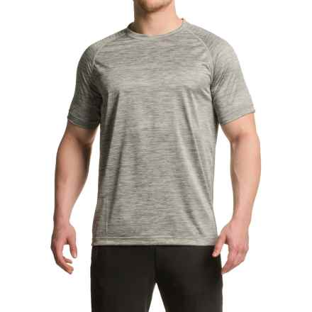Mondetta Raglan Active T-Shirt - Short Sleeve (For Men) in Heather Ash Grey - Closeouts