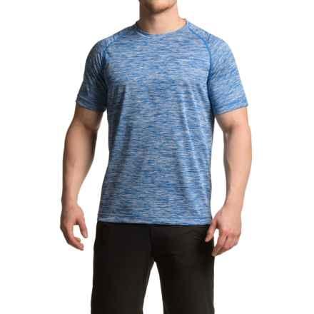 Mondetta Raglan Active T-Shirt - Short Sleeve (For Men) in Heather Blue - Closeouts