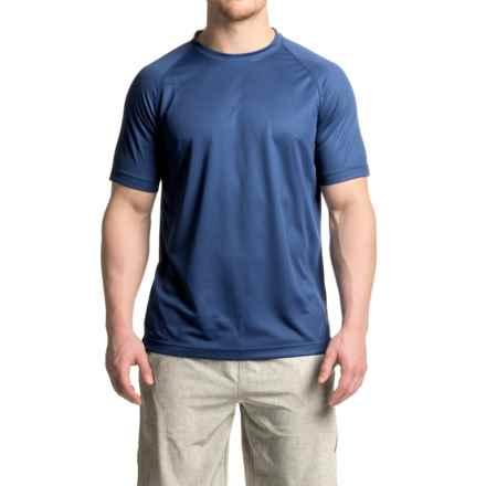 Mondetta Raglan Active T-Shirt - Short Sleeve (For Men) in Heather Marine - Closeouts
