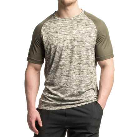 Mondetta Raglan Active T-Shirt - Short Sleeve (For Men) in Olive - Closeouts