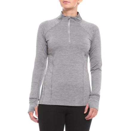6e9c762dd379e9 Mondetta Relay Pleated Back Shirt - Zip Neck, Long Sleeve (For Women) in