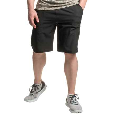 Mondetta Relay Shorts - Built-in Brief (For Men) in Black - Closeouts