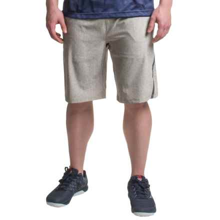 Mondetta Relay Shorts - Built-in Brief (For Men) in Heather Grey - Closeouts