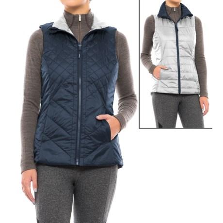 Mondetta Reversible Run Vest - Insulated (For Women) in Iron Blue/Smoke
