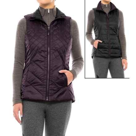 Mondetta Reversible Run Vest - Insulated (For Women) in Raisin/Charcoal - Closeouts