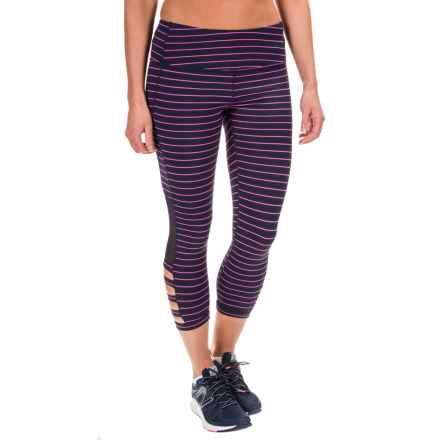 Mondetta Serenity Capris (For Women) in Navy/Berry - Closeouts